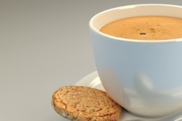 Happy Liquid Coffee and Cookie